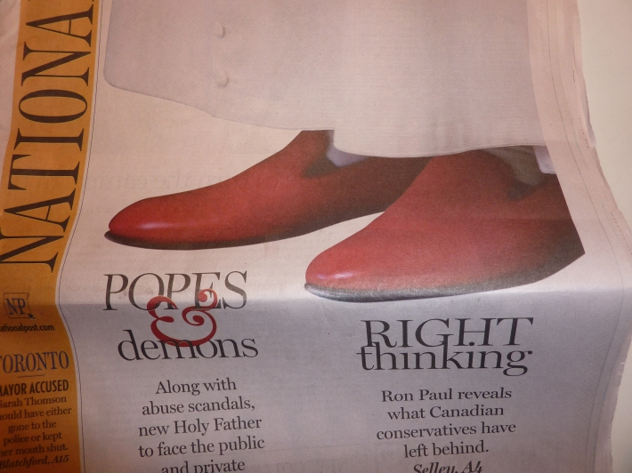 The Pope's Shoes & Mine...