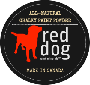 Red Dog Paint Minerals All-Natural Chalky Paint Powder. Made in Canada
