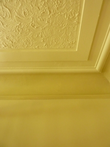 3 colours - ceiling, cove and walls