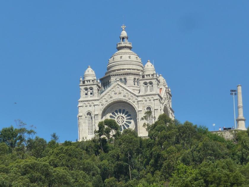 The Basilica of the Sacred Heart of Jesus on Mount Santa Luzia