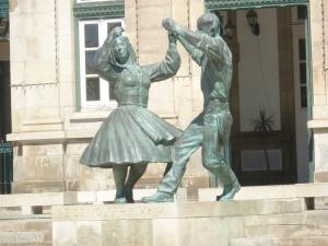Dancing Statues outside of Viana do Castelo Train Station